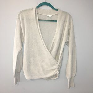 Leith Sweaters - NEW Leith V-Neck Wrap Sweater - Light Blue